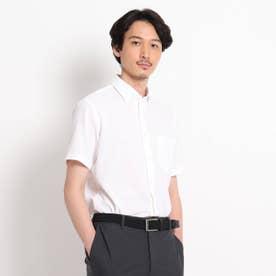 カラミ織り シャツ (ホワイト)