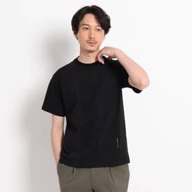 【Sサイズ~】ストライプ 切り替え カットソー (ブラック)