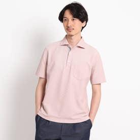 【抗菌防臭】【Sサイズ~】ハニカムメランジ ポロシャツ (ラズベリーピンク)