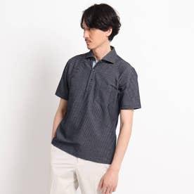 【抗菌防臭】【Sサイズ~】ハニカムメランジ ポロシャツ (ネイビー)