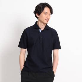 【抗菌防臭】【Sサイズ~】ハニカムメランジ ポロシャツ (ダークネイビー)
