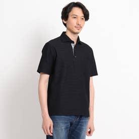 【抗菌防臭】【Sサイズ~】ハニカムメランジ ポロシャツ (チャコールグレー)