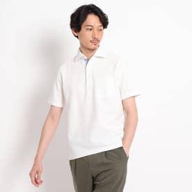 【抗菌防臭】【Sサイズ~】ハニカムメランジ ポロシャツ (ホワイト)