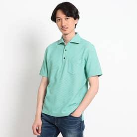 【抗菌防臭】【Sサイズ~】ハニカムメランジ ポロシャツ (ライトグリーン)