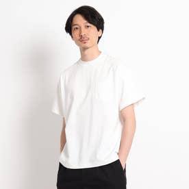 【Sサイズ~】度詰め天竺 ポケットTシャツ (ホワイト)