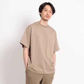 【Sサイズ~】度詰め天竺 ポケットTシャツ (サンドベージュ)