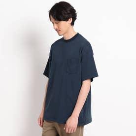 【Sサイズ~】度詰め天竺 ポケットTシャツ (ネイビー)