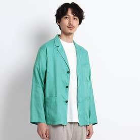 リネン シャツジャケット (ライトグリーン)