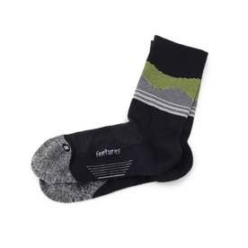 feetures(R) ACTIVE ELITE/ミニクルーソックス (ブラック×イエロー)