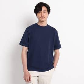 クルーネック ニット Tシャツ (ネイビー)