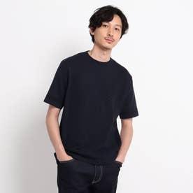 クルーネック ニット Tシャツ (ダークネイビー)