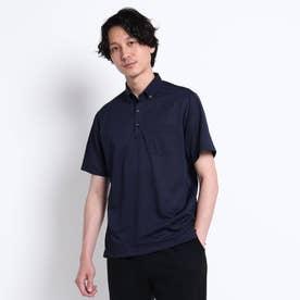 千鳥プリント カノコ ポロシャツ (ネイビー)