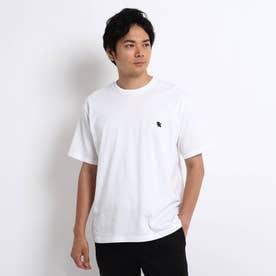 NEW TRADロゴ バックプリント オーバーサイズTシャツ (ホワイト)