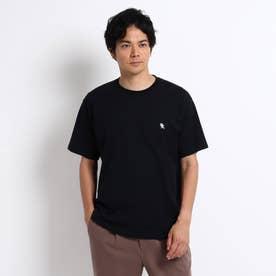 NEW TRADロゴ バックプリント オーバーサイズTシャツ (ブラック)