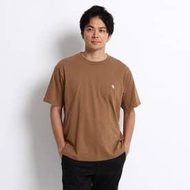 NEW TRADロゴ バックプリント オーバーサイズTシャツ (キャメル)