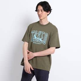 カレッジロゴ プリント ビッグTシャツ (ダークブラウン)