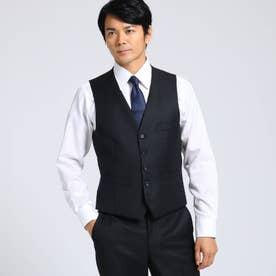【Sサイズ~】シャドーオルタネイトストライプベスト Fabric by MIYUKI KEORI (ブラック)