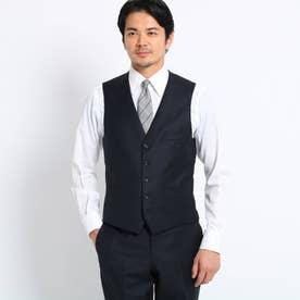 【Sサイズ~】シャドーオルタネイトストライプベスト Fabric by MIYUKI KEORI (ダークネイビー)