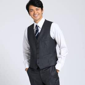 【Sサイズ~】シャドーオルタネイトストライプベスト Fabric by MIYUKI KEORI (チャコールグレー)