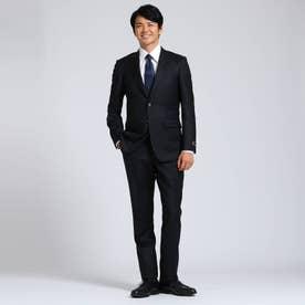 【Sサイズ~】シャドーオルタネイトストライプスーツセットアップ Fabric by MIYUKI KEORI (ブラック)