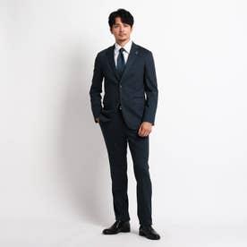 絣縞 スーツ (ネイビー)