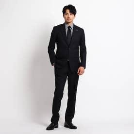 刺し子 枡(マス)格子 スーツ (ブラック)
