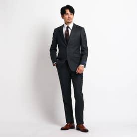 【Sサイズ~】シャドーオルタネイトストライプ スーツ (チャコールグレー)