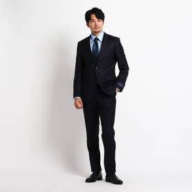 【Sサイズ~】シャドーオルタネイトストライプ スーツ (ダークネイビー)