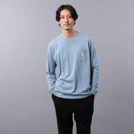【Sサイズ~】クラシックワンポイント ポケット ロンT (ライトブルー)