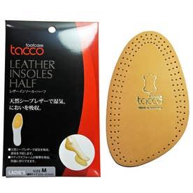 タコ レザーインソール・ハーフ 女性用 L 24-24.5cm (ニュートラル)