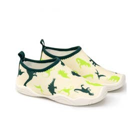 キッズ 水陸両用 海や川に足をつけても排水&速乾でわざわざ履き替えなくて便利 (恐竜)