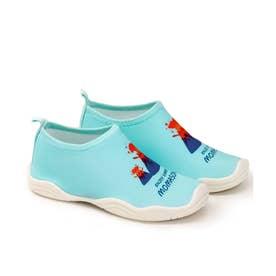 キッズ 水陸両用 海や川に足をつけても排水&速乾でわざわざ履き替えなくて便利 (火山)