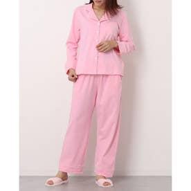 レディース シンプルゆったりパジャマ (ピンク)