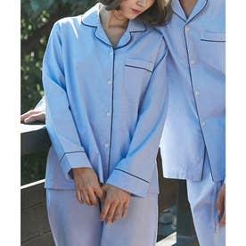 レディース シンプルゆったりパジャマ (ライトブルー)