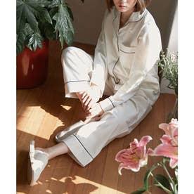 レディース シンプルゆったりパジャマ (ホワイト)