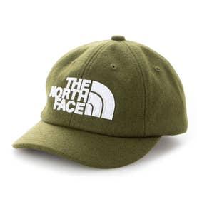 ジュニア トレッキング 帽子 Kids TNF LOGO Flannel Cap(キッズTNFロゴフランネルキャップ) NNJ42000 (カーキ)