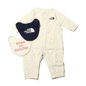 Baby L/S Rompers & 2P Bib (BEIGE)
