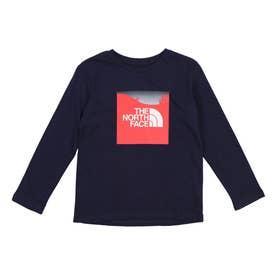 ジュニア アウトドア 長袖Tシャツ L/S Graphic Tee(ロングスリーブグラフィックティー) NTJ82150 (ブラウン)
