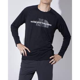 メンズ 陸上/ランニング 長袖Tシャツ L/S AMPERE CREW NT62074 (ブラック)