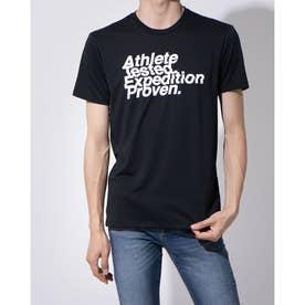 メンズ 陸上/ランニング 半袖Tシャツ S/S AT LOGO TEE NT82072 (ブラック)