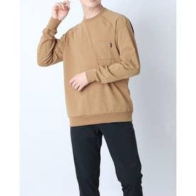メンズ アウトドア 長袖Tシャツ L/S Airy Relax Tee(ロングスリーブエアリーリラックスティー) NT11967 (ベージュ)