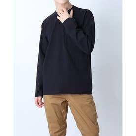 メンズ アウトドア 長袖Tシャツ L/S Heavy Cotton Tee(ロングスリーブヘビーコットンティー) NT32007 (ブラック)