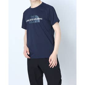 メンズ 陸上/ランニング 半袖Tシャツ S/S Ampere Crew(ショートスリーブアンペアクルー) NT12083 (ネイビー)