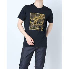 メンズ 陸上/ランニング 半袖Tシャツ S/S TOPOGRAPHY TEE(ショートスリーブトポグラフィティー) NT32180 (ホワイト)