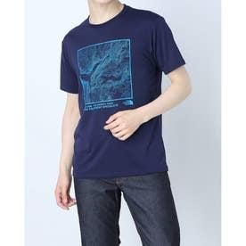 メンズ 陸上/ランニング 半袖Tシャツ S/S TOPOGRAPHY TEE(ショートスリーブトポグラフィティー) NT32180 (ネイビー)