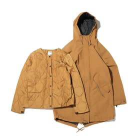 FISHTAIL TRICLIMATE COAT (BROWN)
