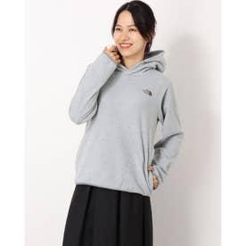 レディース アウトドア 長袖Tシャツ Micro Fleece Hoodie(マイクロフリースフーディ) NLW72130 (グレー)