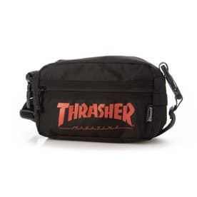 THRASHER/ショルダーバッグ (ブラック×レッド)
