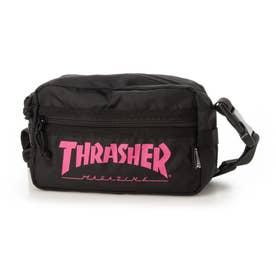 THRASHER/ショルダーバッグ (ブラック×ピンク)