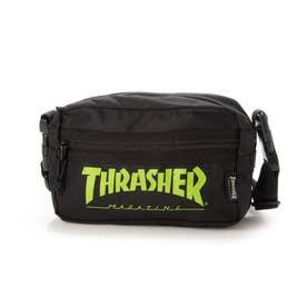 THRASHER/ショルダーバッグ (ブラック×ライム)